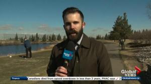 Kent Morrison on the first golf course open for the season in Edmonton