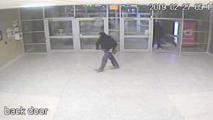 Kingston police release security video of thieves smashing into ATM