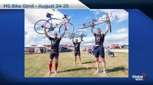 MS Bike riders tour Manitoba