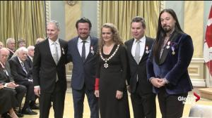 The Tragically Hip receives the Order of Canada