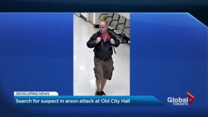 Toronto police release suspect photo after deliberately set fire at Old City Hall