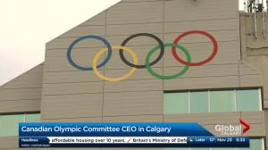 CEO of Canadian Olympic Committee visits Calgary