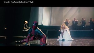 Deadpool, Celine Dion team up for 'Ashes' music video