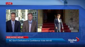 Premier Christy Clark makes statement after meeting with Lt.-Gov