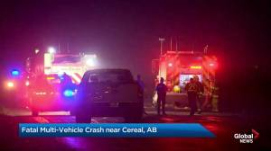 Deadly crash closes Alberta Highway 9