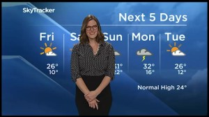 Mix of sun and cloud for Saturday, risk of thunderstorms Sunday