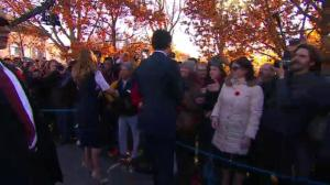 Justin Trudeau wades into crowd to greet supporters