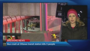 Bus crash at Ottawa transit station kills 3 people
