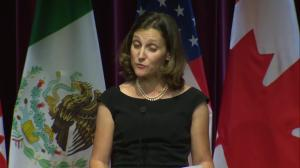 Freeland praises five days of 'productive' NAFTA talks