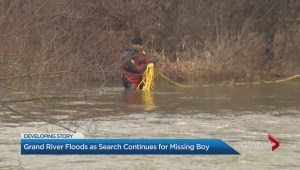 Desperate search for child missing in Grand River