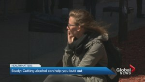 Cutting alcohol can help you butt out