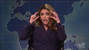 SNL's Hope Hicks appears on Weekend Update, reflects on time at WH