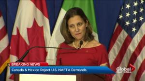 Canada, Mexico reject U.S. NAFTA demands