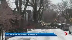 Spring ice storm makes life miserable for those in its path