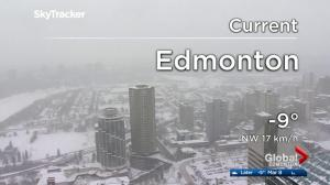 Edmonton area hit with more snow Friday