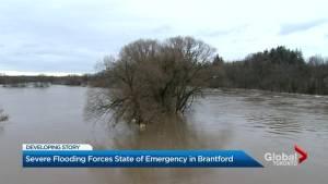 Ice jam near Cambridge causes flooding in Brantford