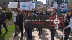 Scientists and science supporters 'March for Science' in Toronto