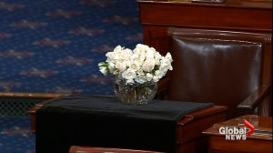 U.S. senators pay tribute to John McCain