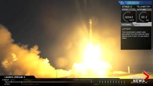 SpaceX rocket launch lights up California sky