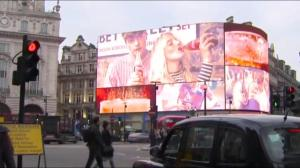Giant London billboard targets ads by tracking you