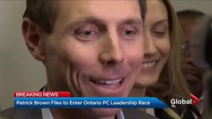 Patrick Brown files papers to enter Ontario PC leadership race