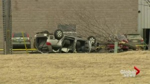 Amber alert ends for Ontario girl, resulting in father's arrest, vehicle rollover