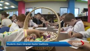 Ukrainian Easter traditions observed at Etobicoke school put on display