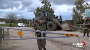 Israeli troops block parts of Gaza border after rocket attack