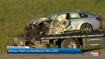 Serious vehicle crash southwest of Calgary