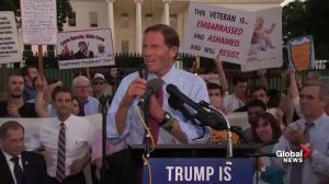 Sen. Blumenthal accuses Trump of breaking the law during protest in front of White House