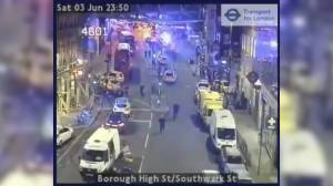 Local traffic cam shows police response to London Bridge Attack (00:35)