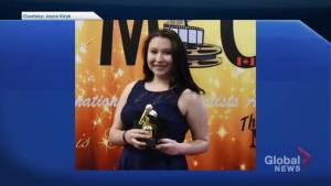 Two students from Kainai High School honoured at awards show for youth in Calgary (01:45)