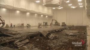 Floor replacement underway at Peterborough Memorial Centre