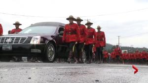 Hundreds of officers participate in Cst. Sarah Beckett's funeral march