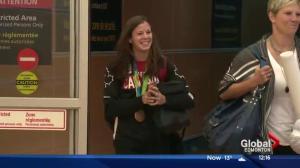 Women's soccer player Stephanie Labbé arrives home from Rio 2016 Summer Games