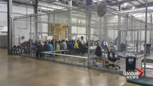 New images reveal migrant children separated from parents living in cages