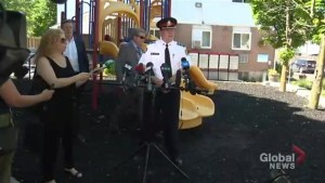 Police on the hunt for two suspects, while girls shot in playground recover
