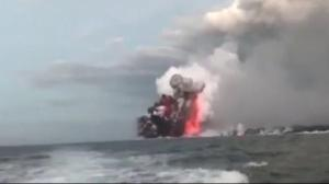 Lava bomb from Kilauea hits Hawaii tour boat, injuring 23 passengers
