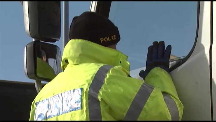 OPP patrolling in transport trucks to crack down on distracted truckers