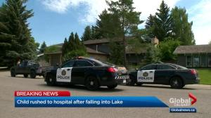 Toddler rushed to hospital after being found by family in Lake Bonaventure
