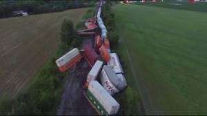 Freight train derails near Quebec-Ontario border
