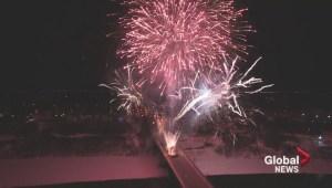 WATCH: New Year's Eve fireworks in Saskatoon