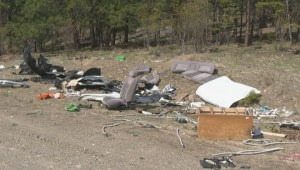 Huge illegal dump site in Okanagan woods will soon be cleaned up