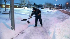 B.C. residents tackle snow as region blanketed by winter weather