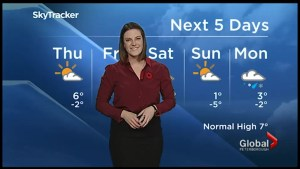 Seasonal temperatures for Thursday, Friday system bringing rain and snow to Southern Ontario