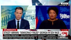 Abrams says she believes there was deliberate disenfranchisement for years in Georgia