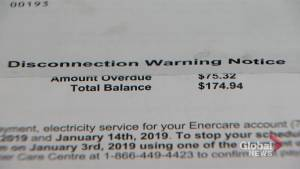 Hydro company offers to cover customer's bill after disconnecting her power (01:02)