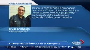 Attawapiskat Chief speaks out over 11 suicide attempts (01:27)