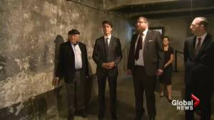 Justin Trudeau with sombre visit to Auschwitz