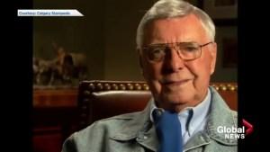 Archive video: Calgary broadcaster Joe Carbury bids a final goodbye